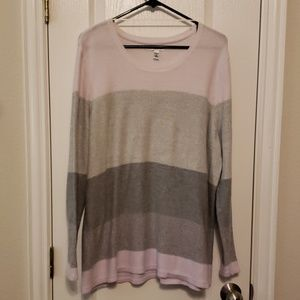 Pink and gray ombre like sweater